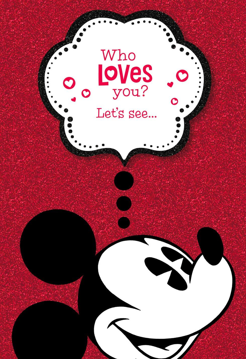 Mickey Mouse Valentineu0027s Day Card