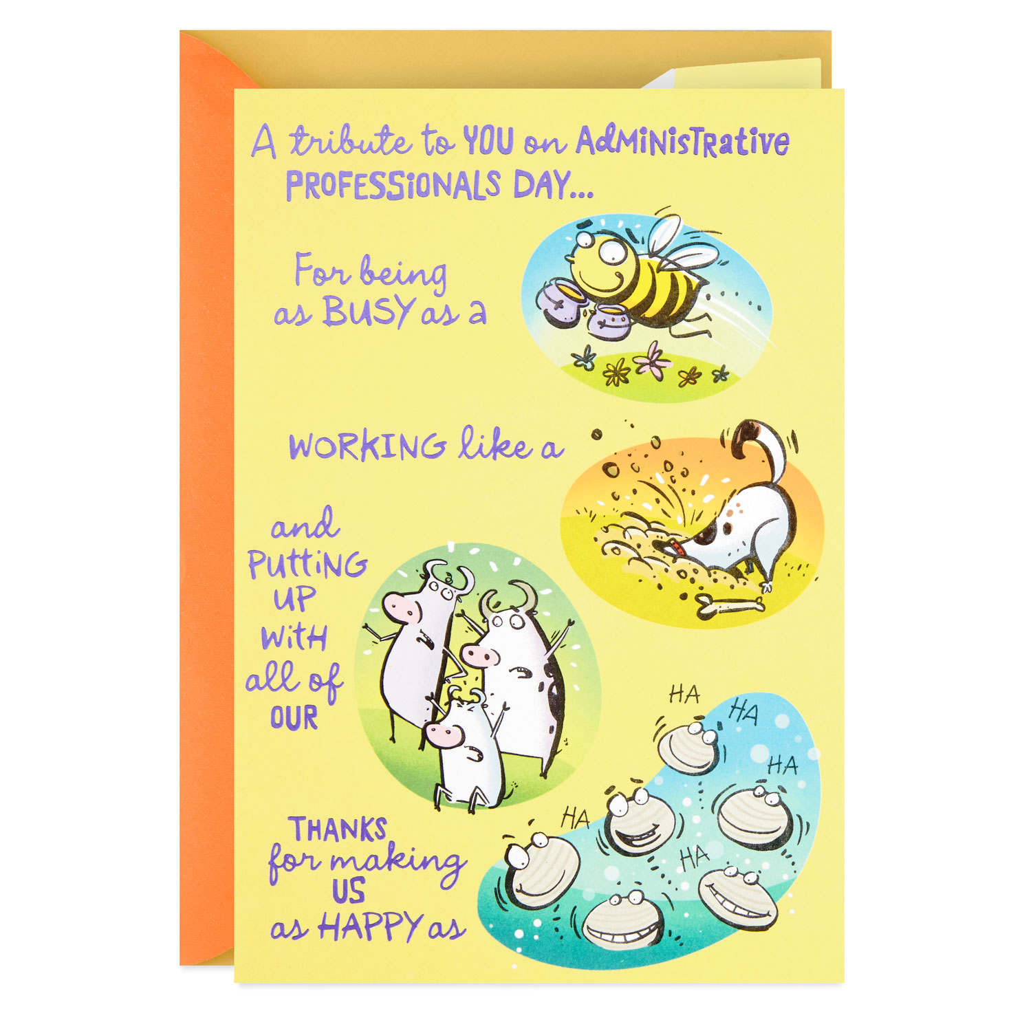 proud as a peacock administrative professionals day card