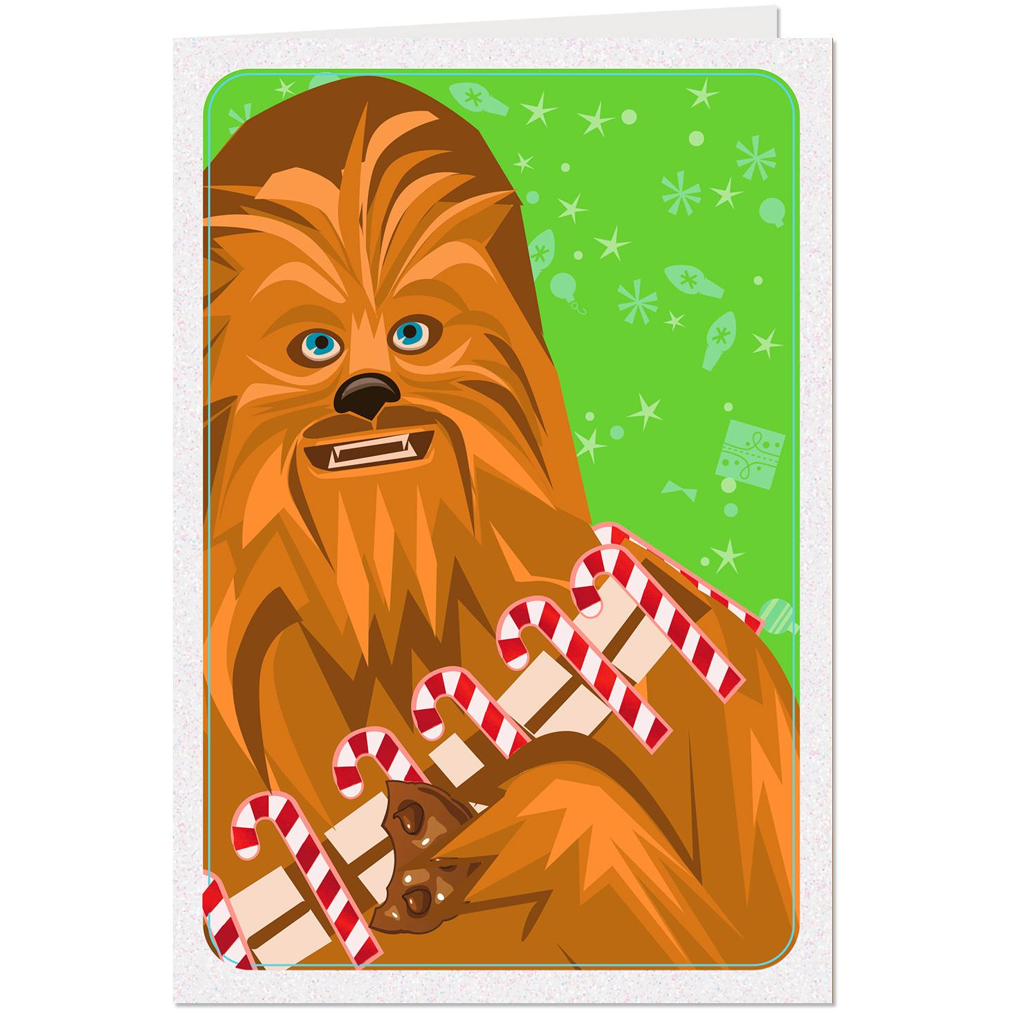 star wars chewbacca wookiee little christmas card