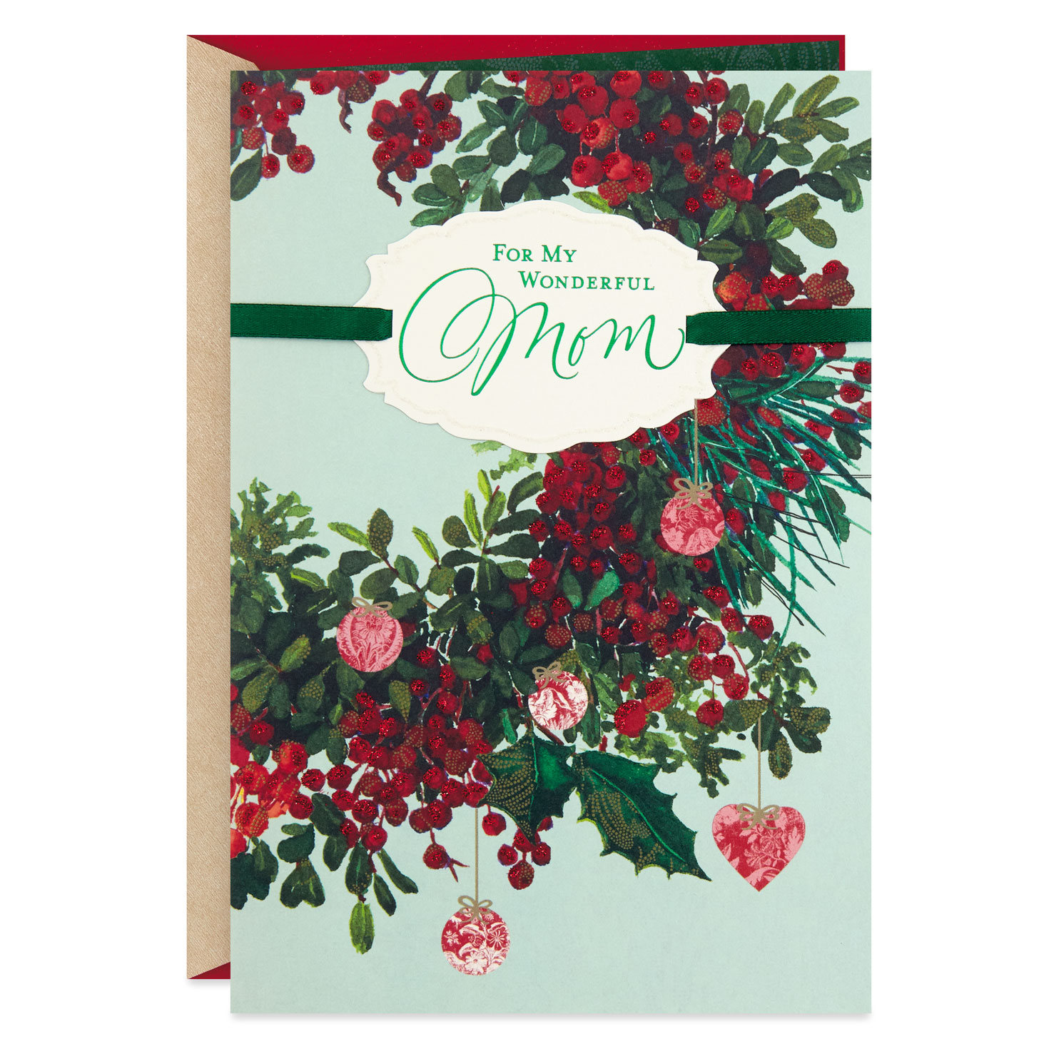 Your Love Means So Much Mom Christmas Card Greeting