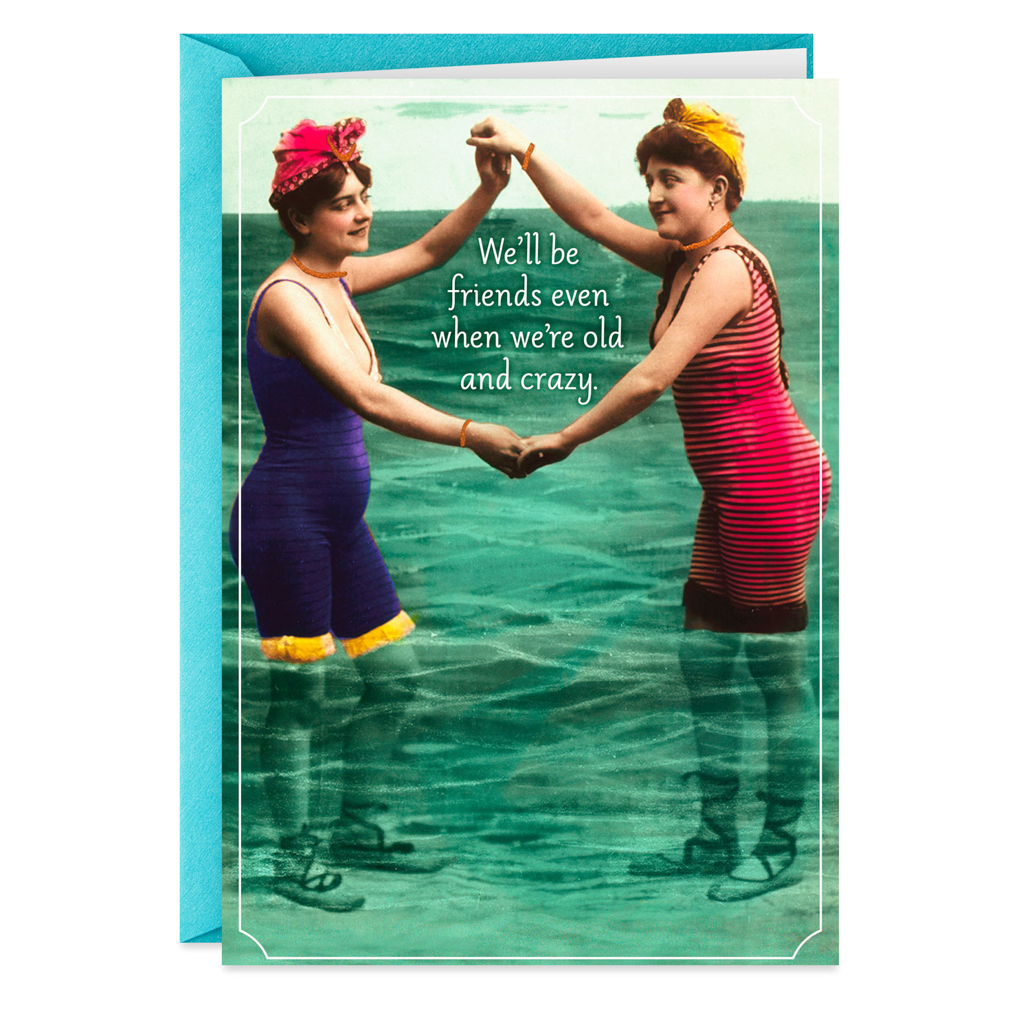old and crazy friends funny birthday card  greeting cards