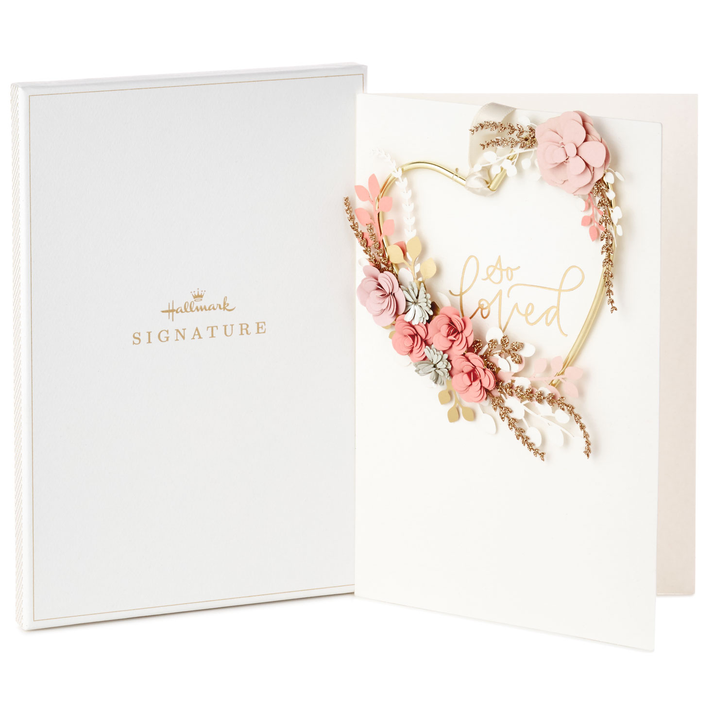 Forever Love Card With Removable Wreath in Gift Box