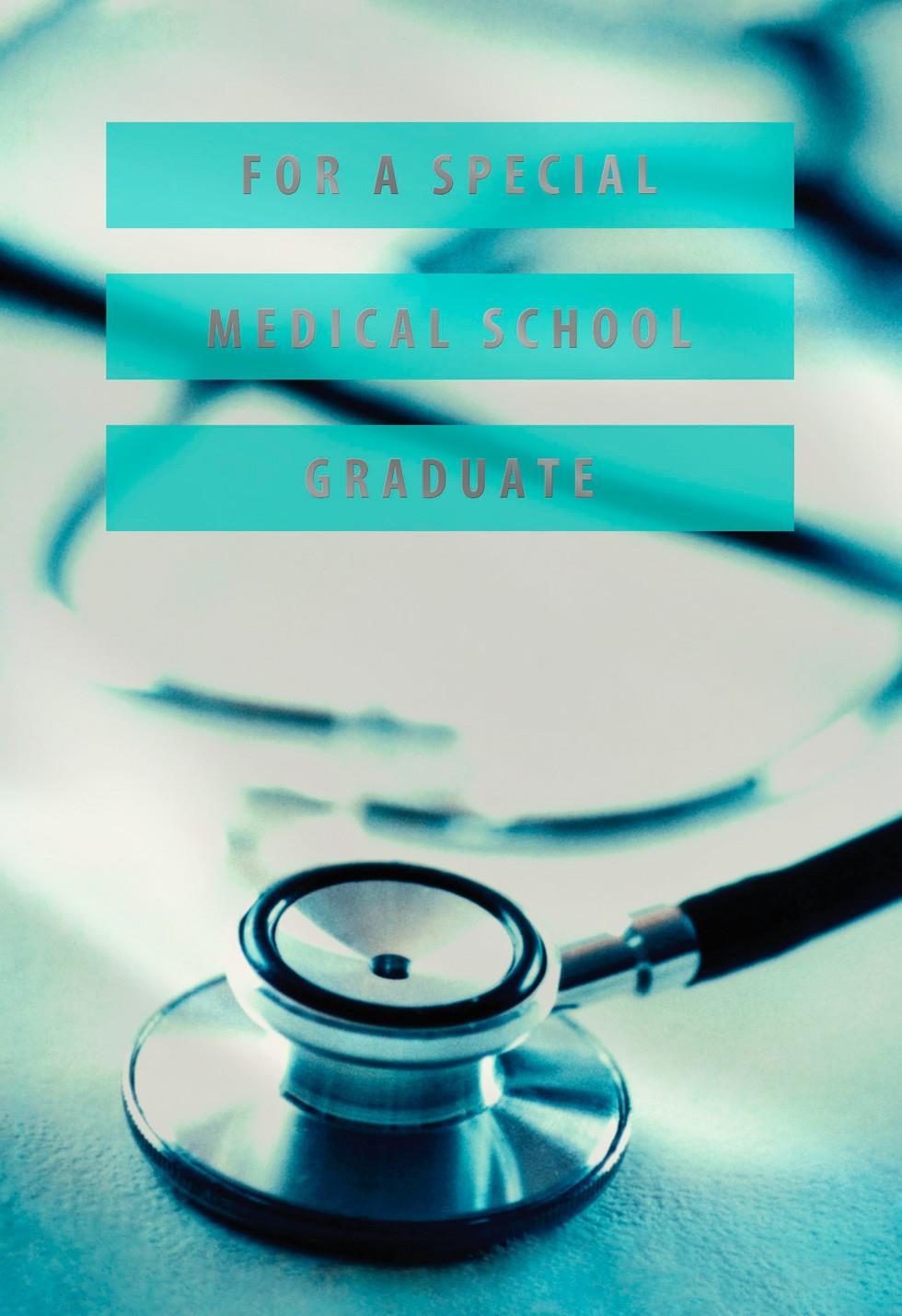 medical school stethoscope graduation card