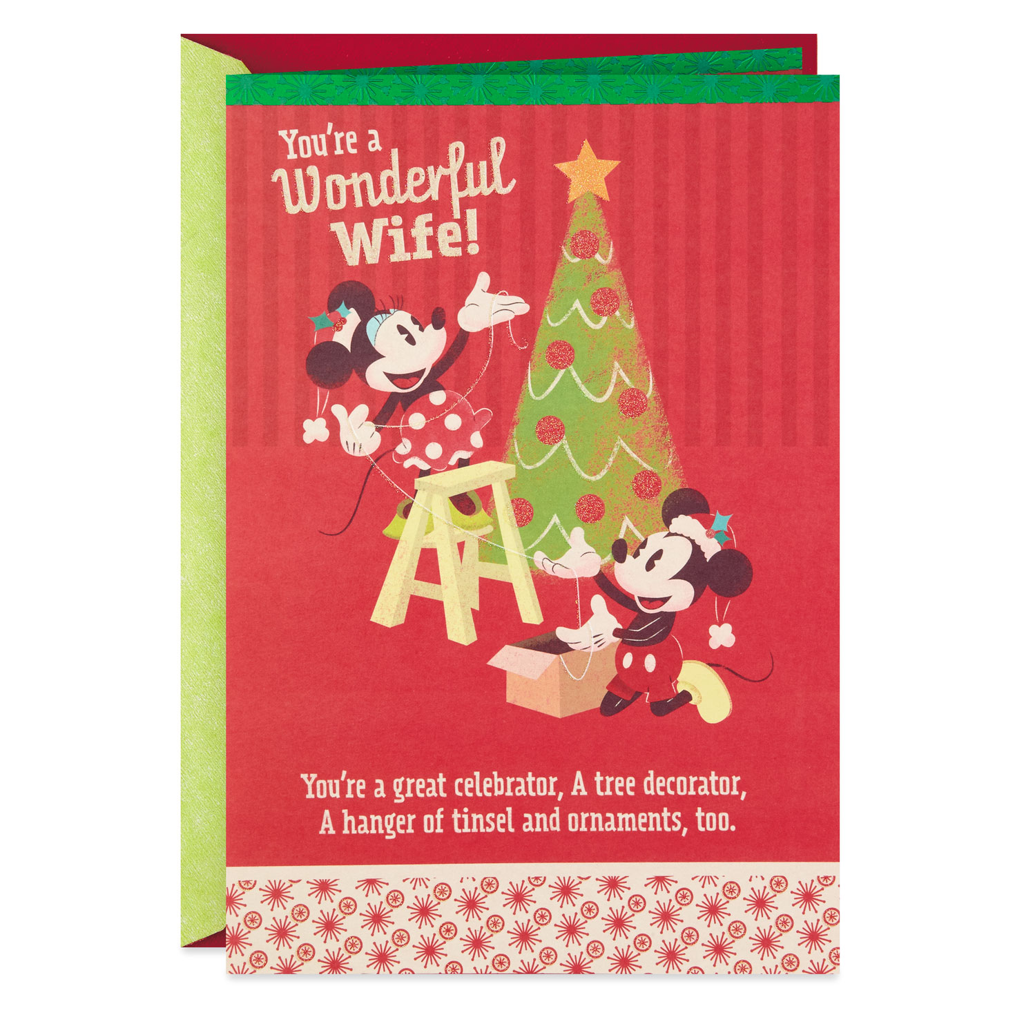 disney mickey and minnie wonderful wife popup christmas