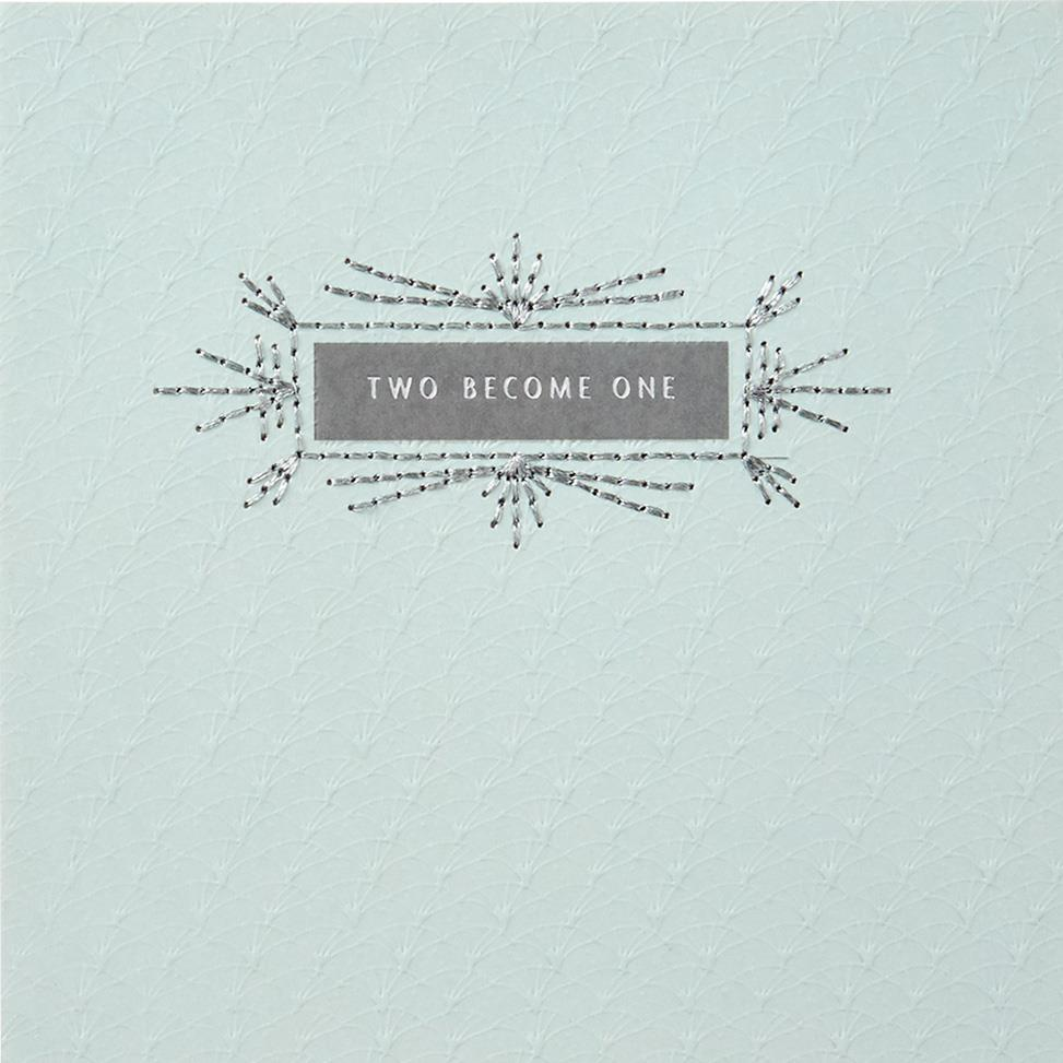two become one wedding card - greeting cards