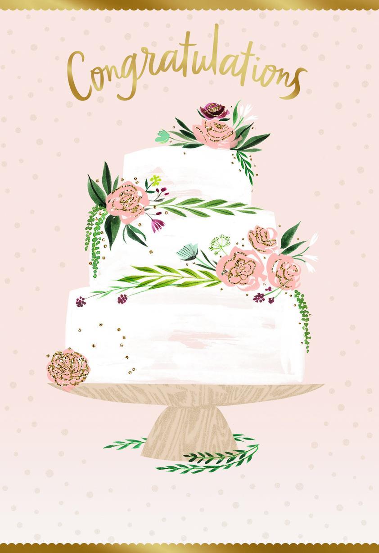 wedding cake wishes wedding card  greeting cards  hallmark