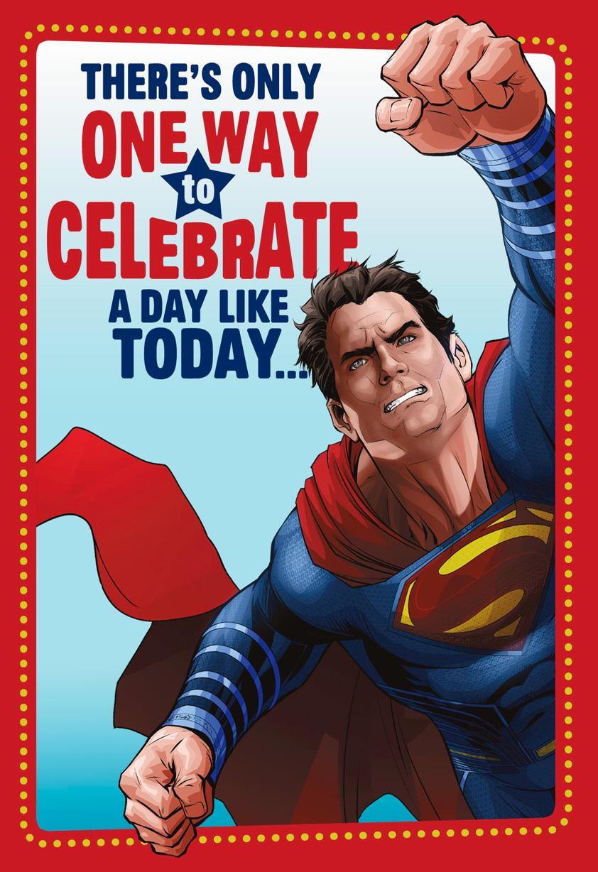 Superman Heroic Celebration Birthday Card Greeting Cards Hallmark