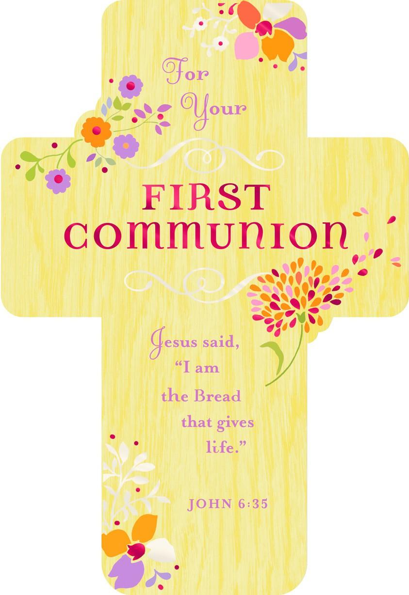 Prayer For A Special Girl First Communion Card Greeting
