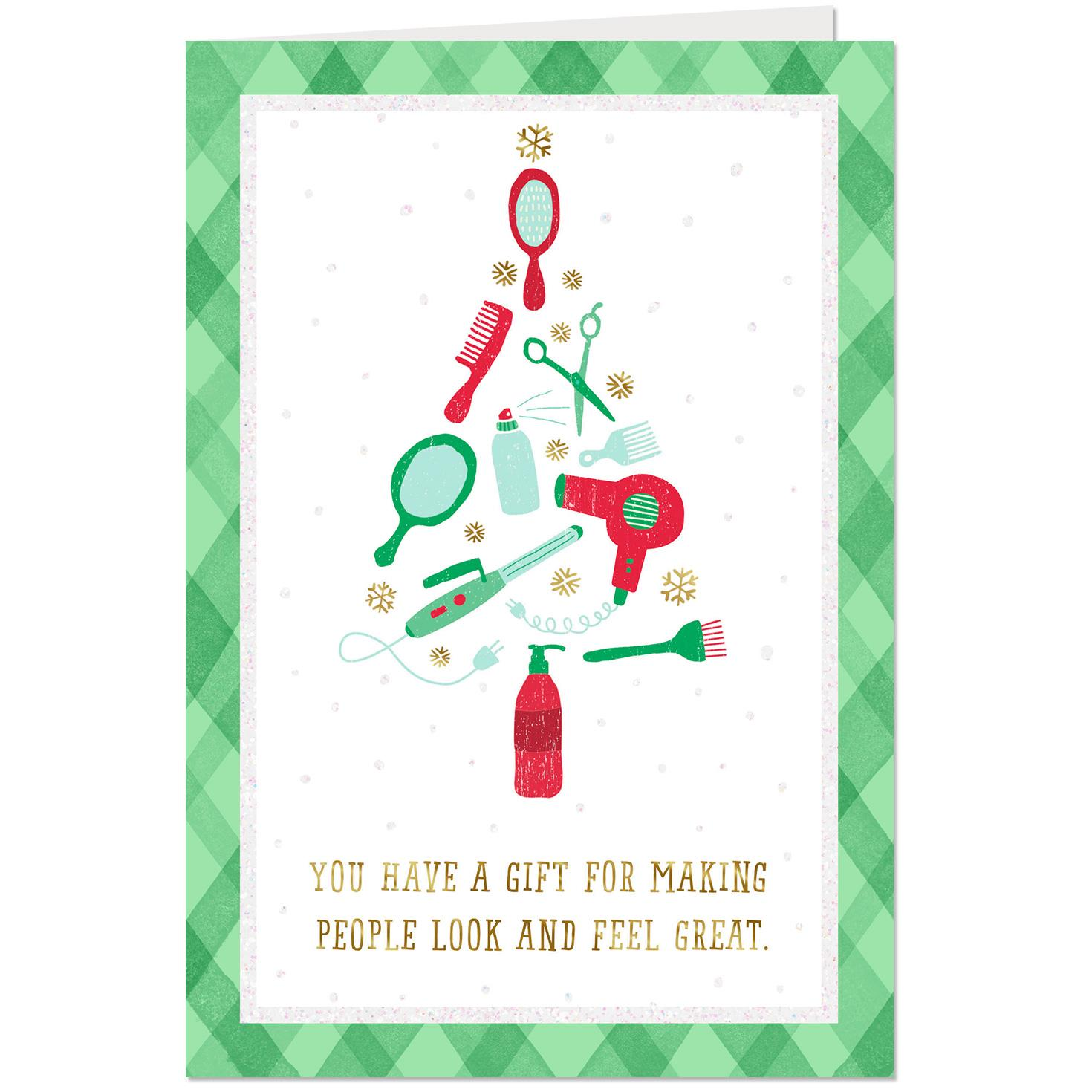 You Have a Gift Thank You Christmas Card for Hair Stylist ...