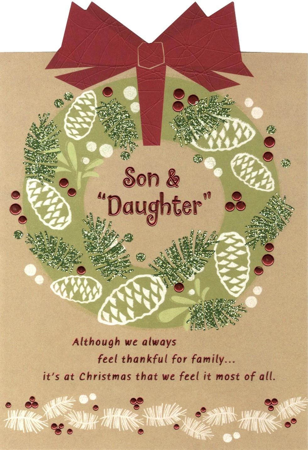 Grateful for you son and daughter christmas card greeting cards grateful for you son and daughter christmas card kristyandbryce Choice Image