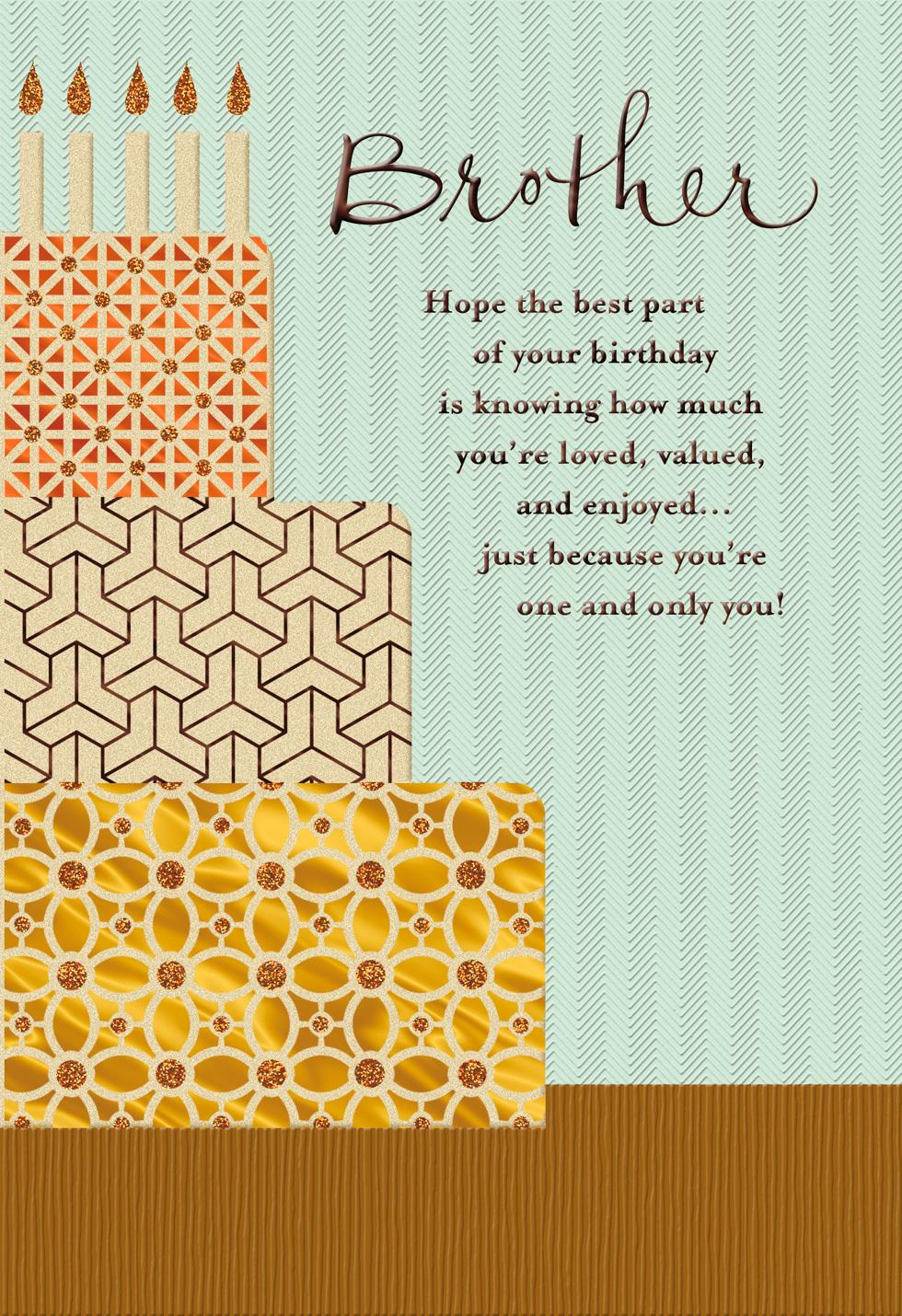 You Re A Blessing Religious Birthday Card For Brother Greeting Cards Hallmark
