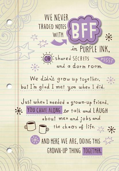 New Friends to BFFs - Greeting Cards - Hallmark