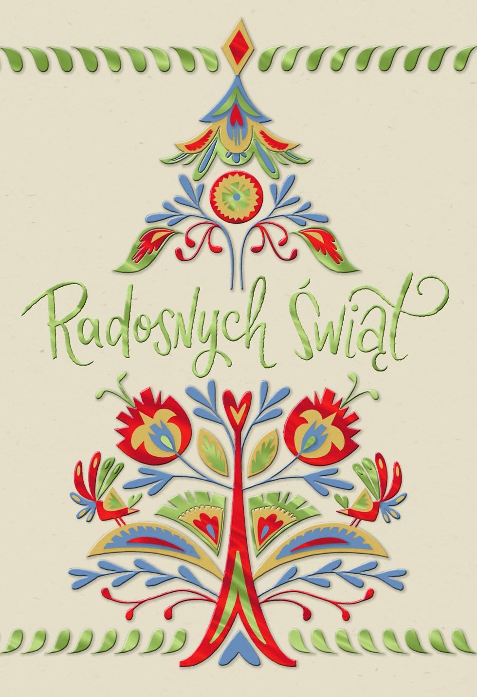 Wishes For The Season Polish Language Christmas Card