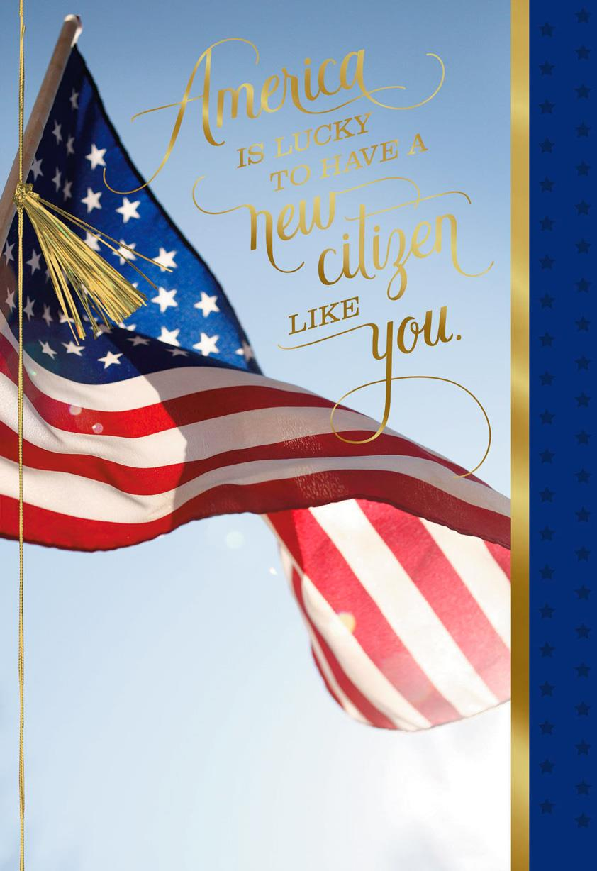 congratulations card for your american citizenship - greeting cards