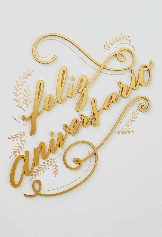 Feliz Aniversario Spanish Language Anniversary Card From Both