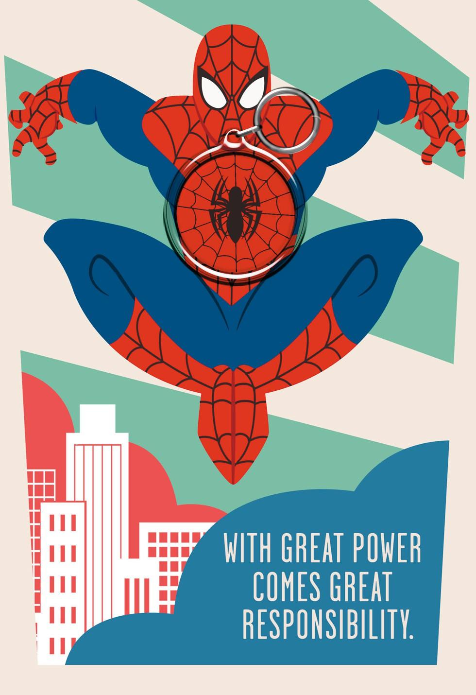 spider man father u0027s day card with keychain greeting cards