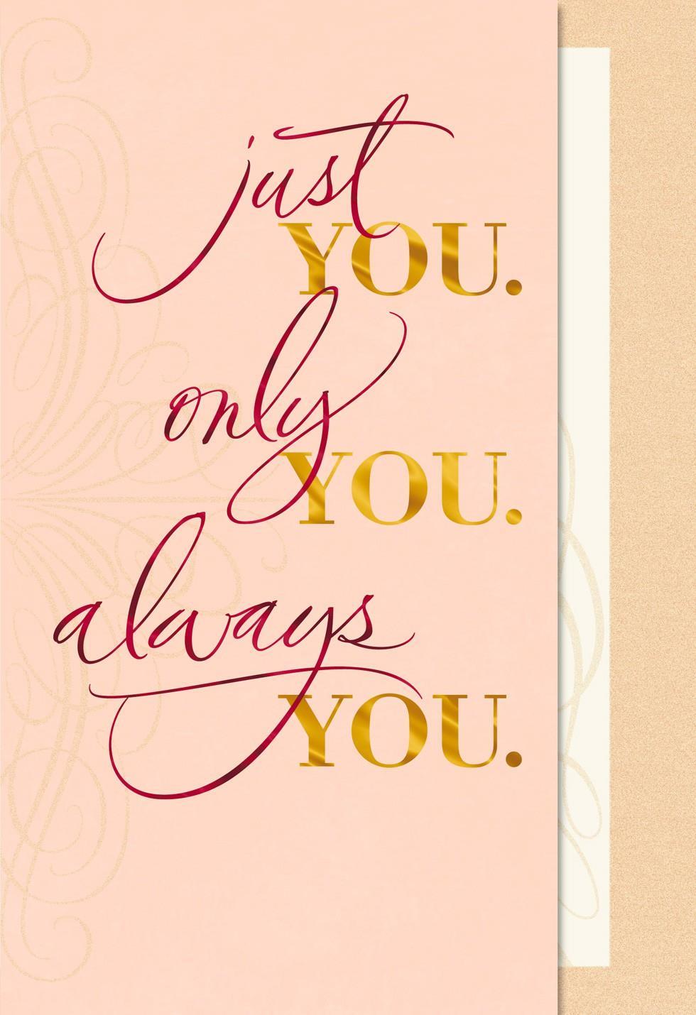 Always You Sweetest Day Card Hallmark