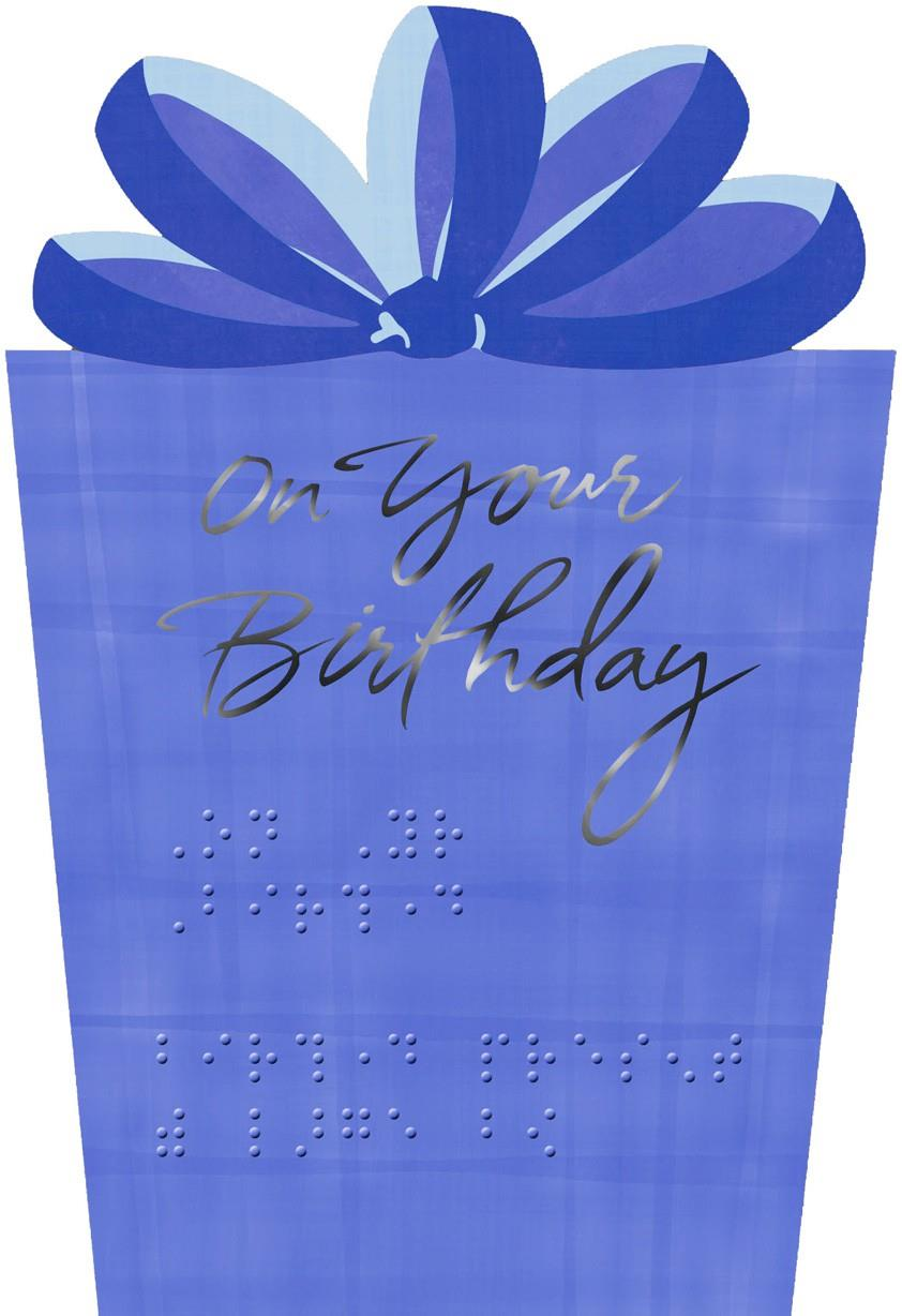 a special day for wonderful you braille birthday card  greeting, Birthday card