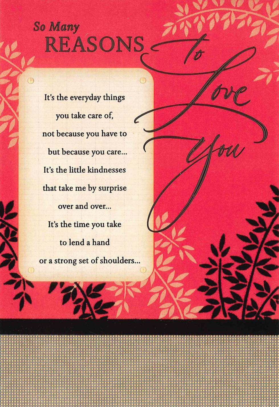 So Many Reasons To Love You Anniversary Card For Him