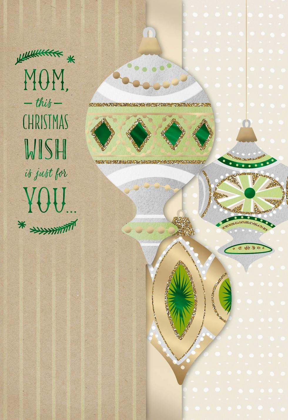 Wishes for Mom Christmas Card - Greeting Cards - Hallmark