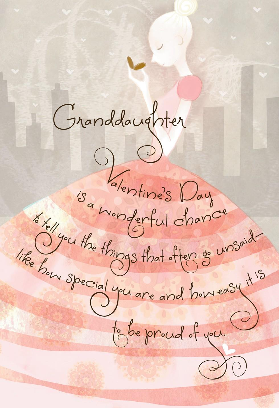More Than Words Valentines Day Card for Granddaughter Greeting – Granddaughter Valentine Card