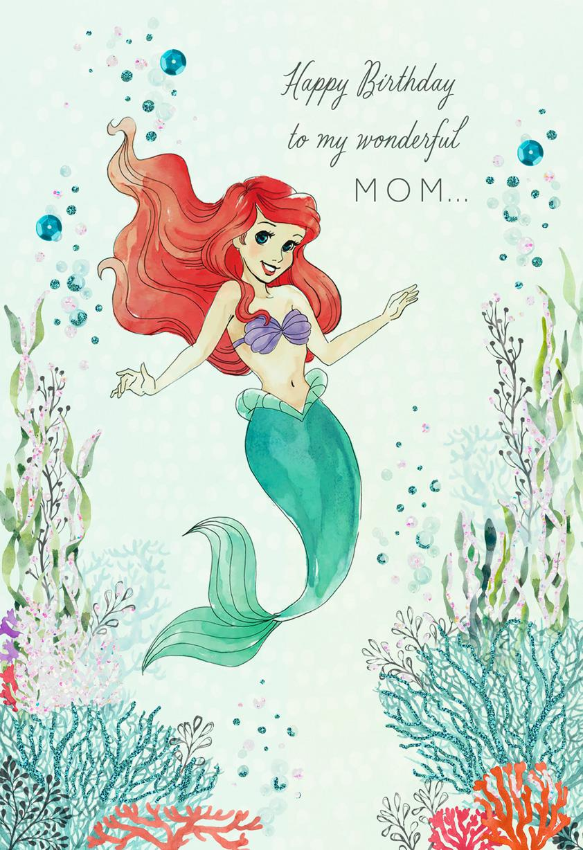Disney The Little Mermaid I Treasure You Birthday Card For Mom