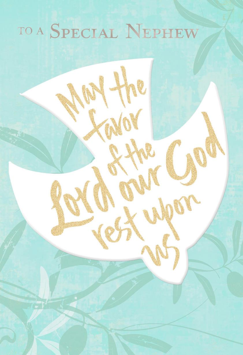 the favor of the lord dove confirmation card for nephew