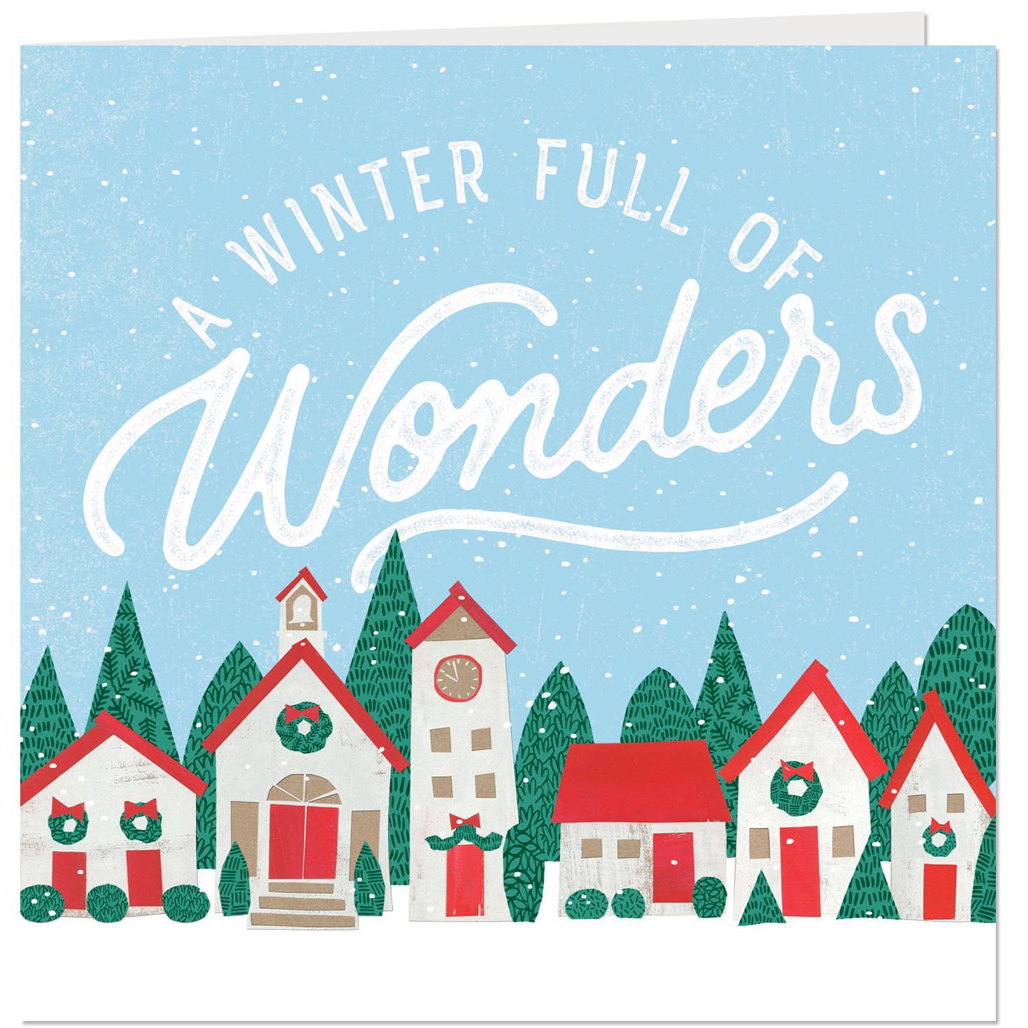 winter full of wonders musical christmas card  greeting