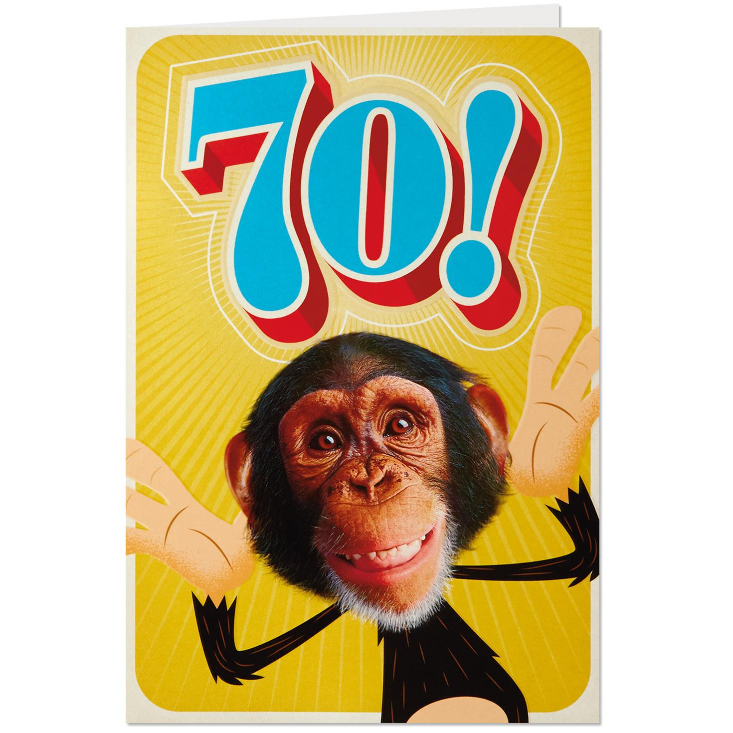 Still Swingin Funny 70th Birthday Card