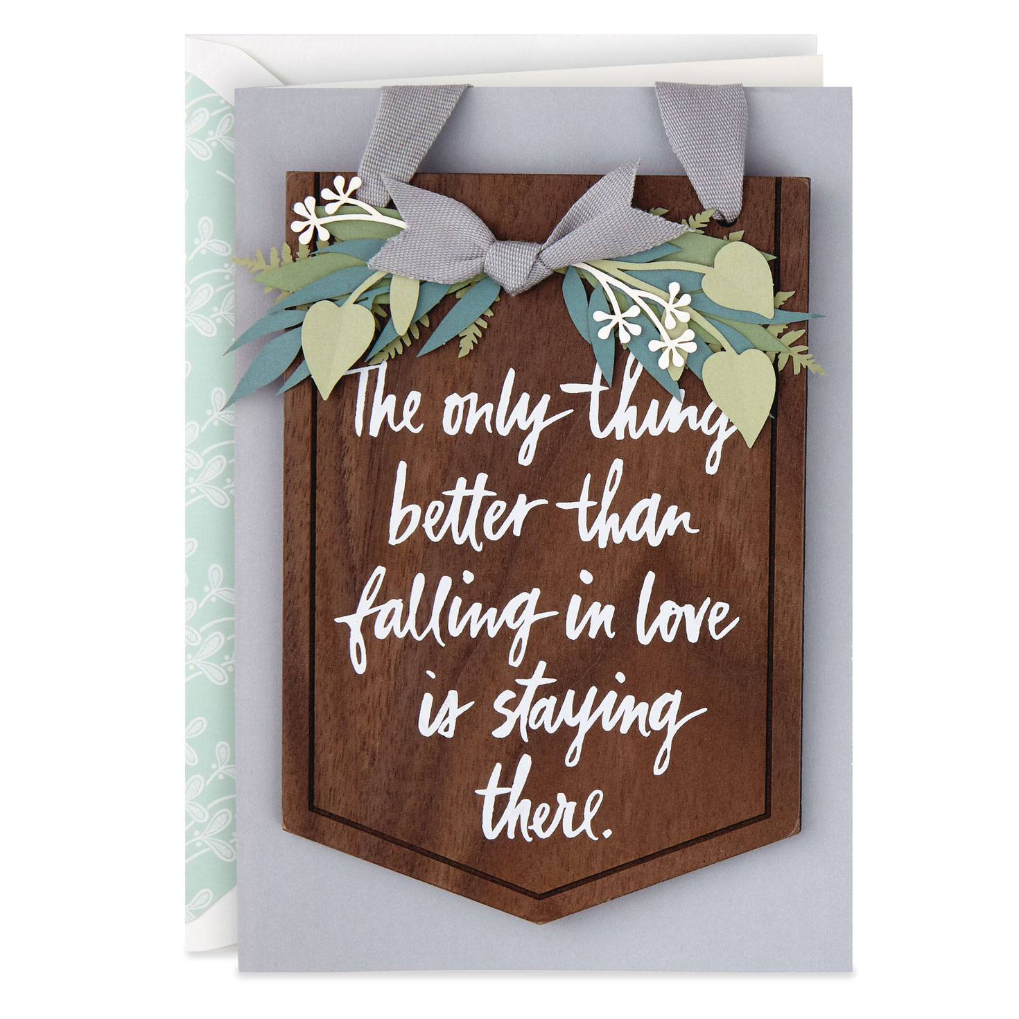 to many more years of love anniversary card with hangable