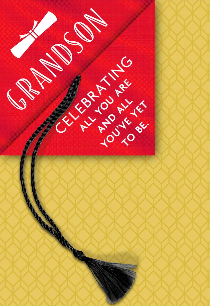 always with you  grandson graduation card with tassel