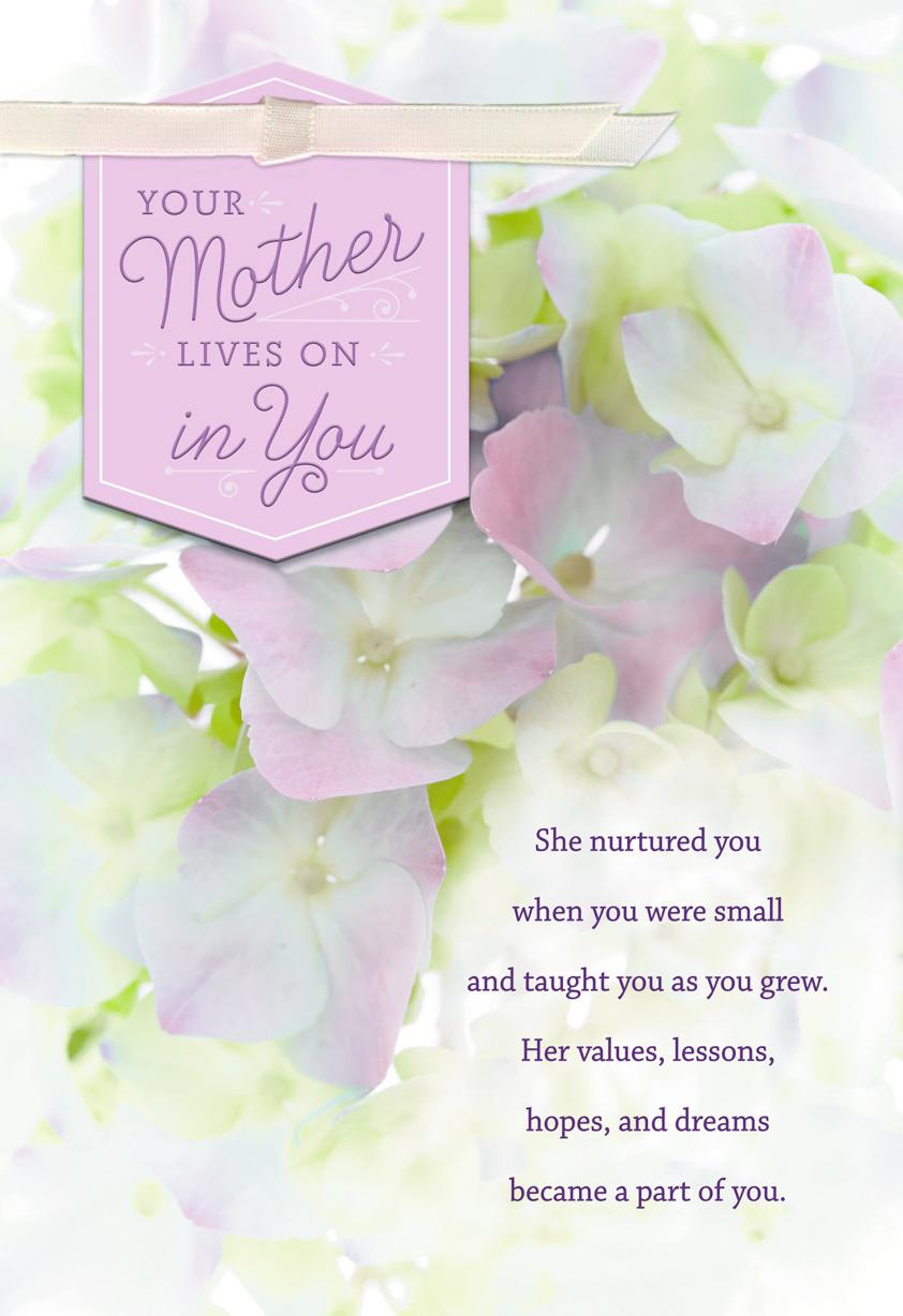 Your Mother Lives On In You Sympathy Card Greeting Cards Hallmark