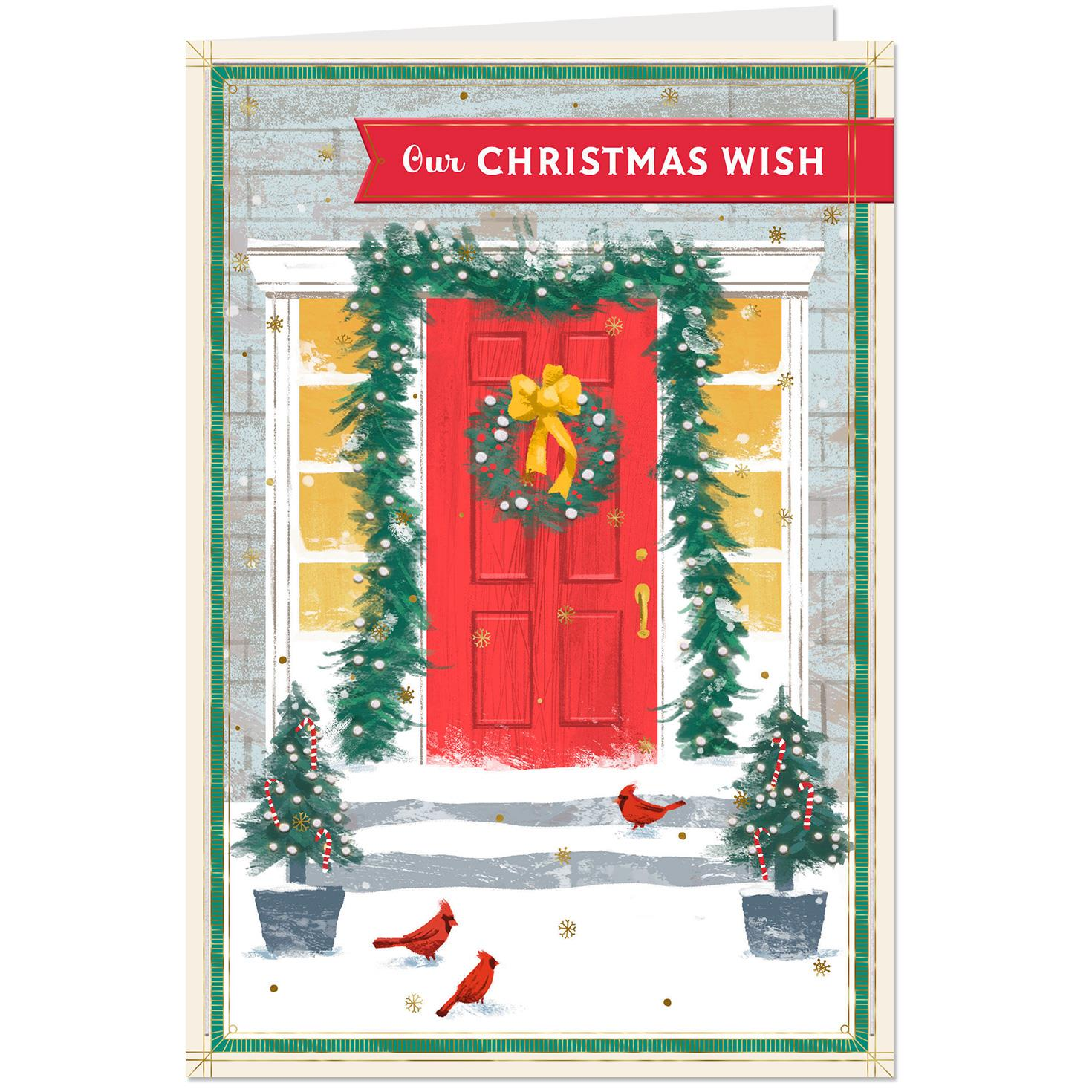 our wishes for you christmas card greeting cards hallmark