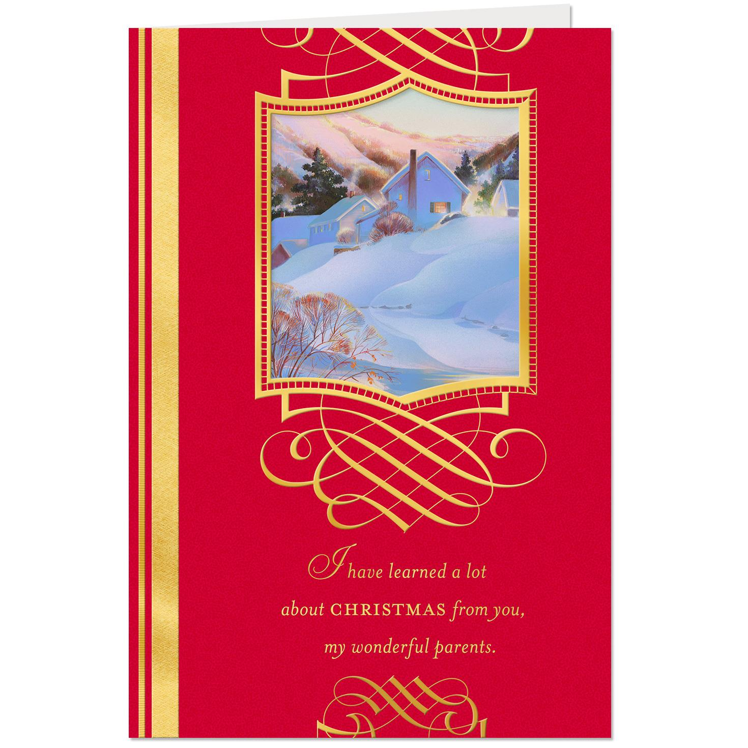Love Is A Family Tradition Christmas Card For Parents