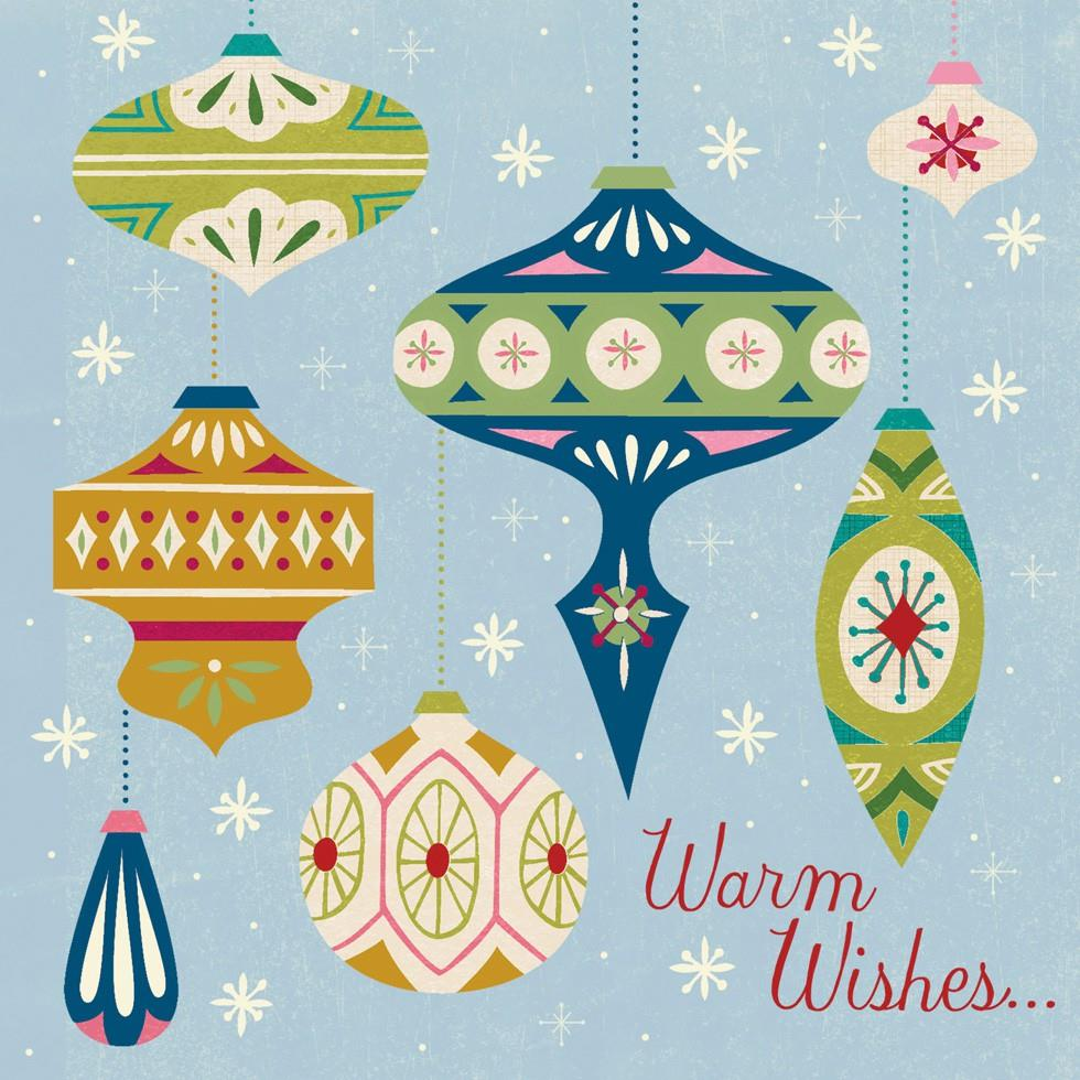 Warm wishes cool musical christmas card greeting cards for Cool christmas art