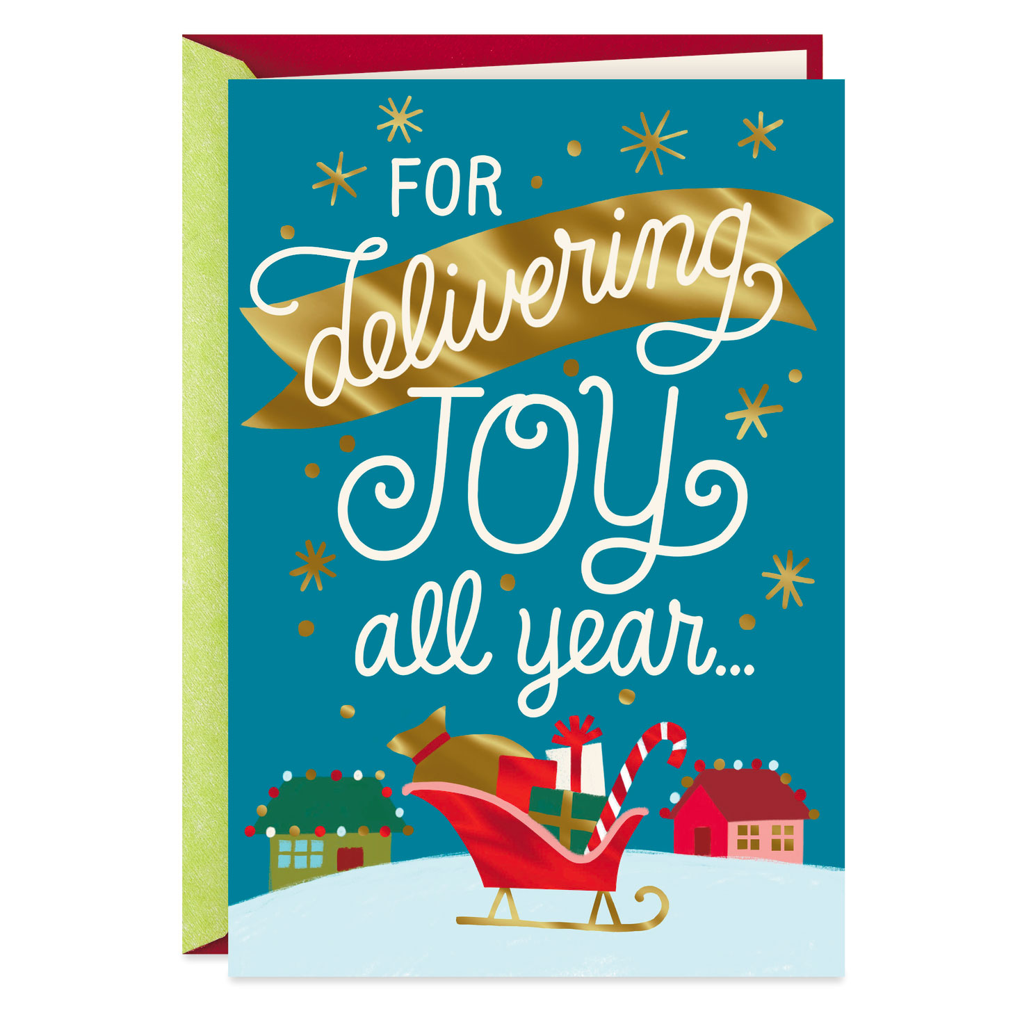 You Deliver Joy All Year Christmas Card For Mail Carrier