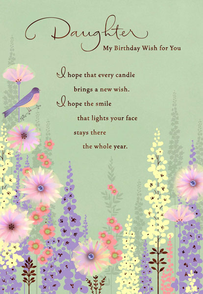 Birthday Wish for My Daughter Greeting Cards Hallmark – Birthday Card for My Daughter