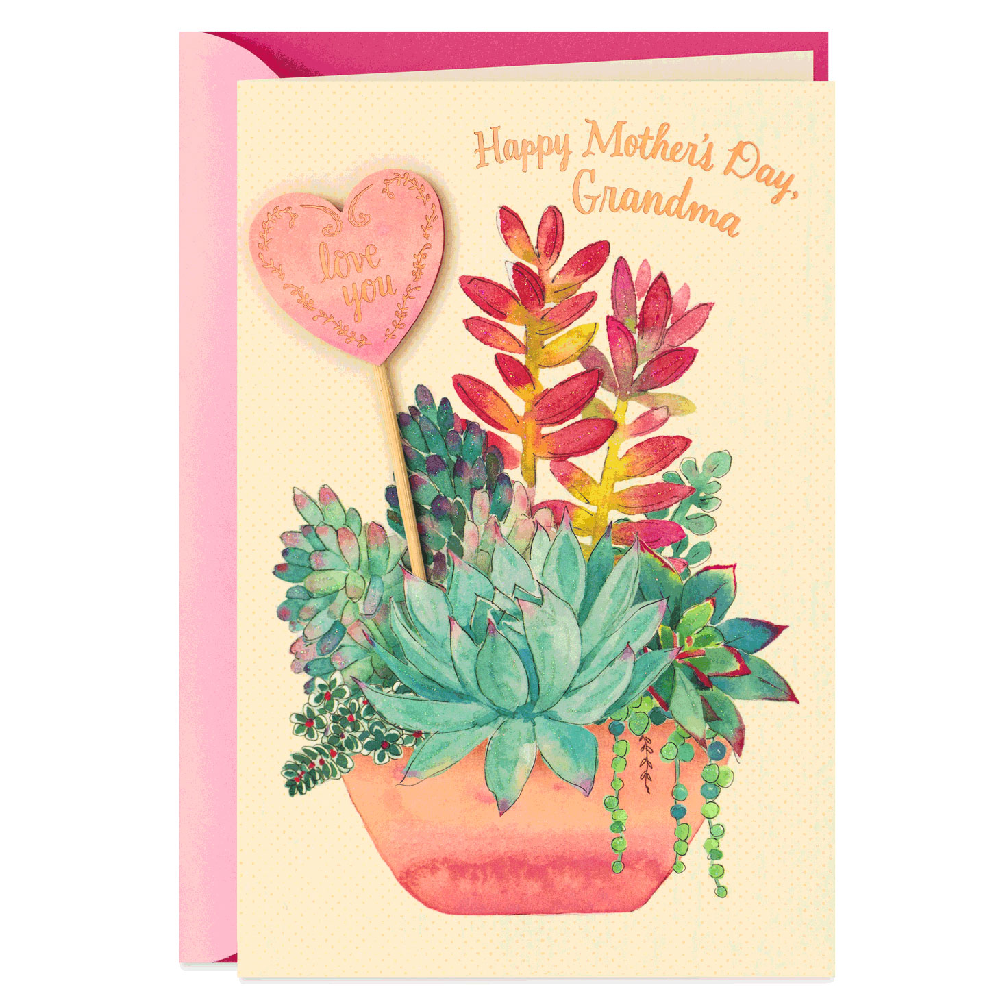 Grandma Potted Plants Mother S Day Card