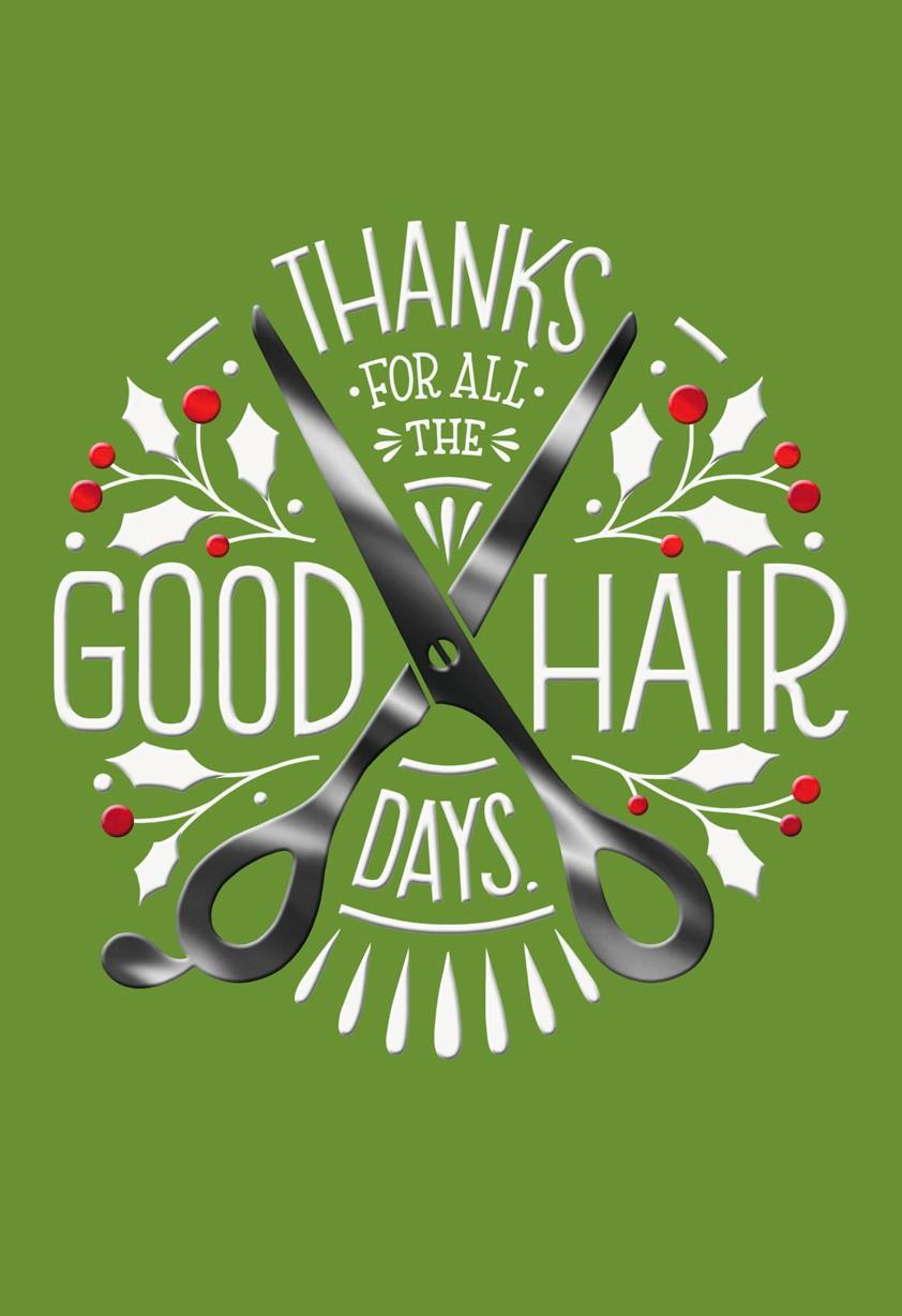 Hair Stylist Thank You Christmas Card Greeting Cards