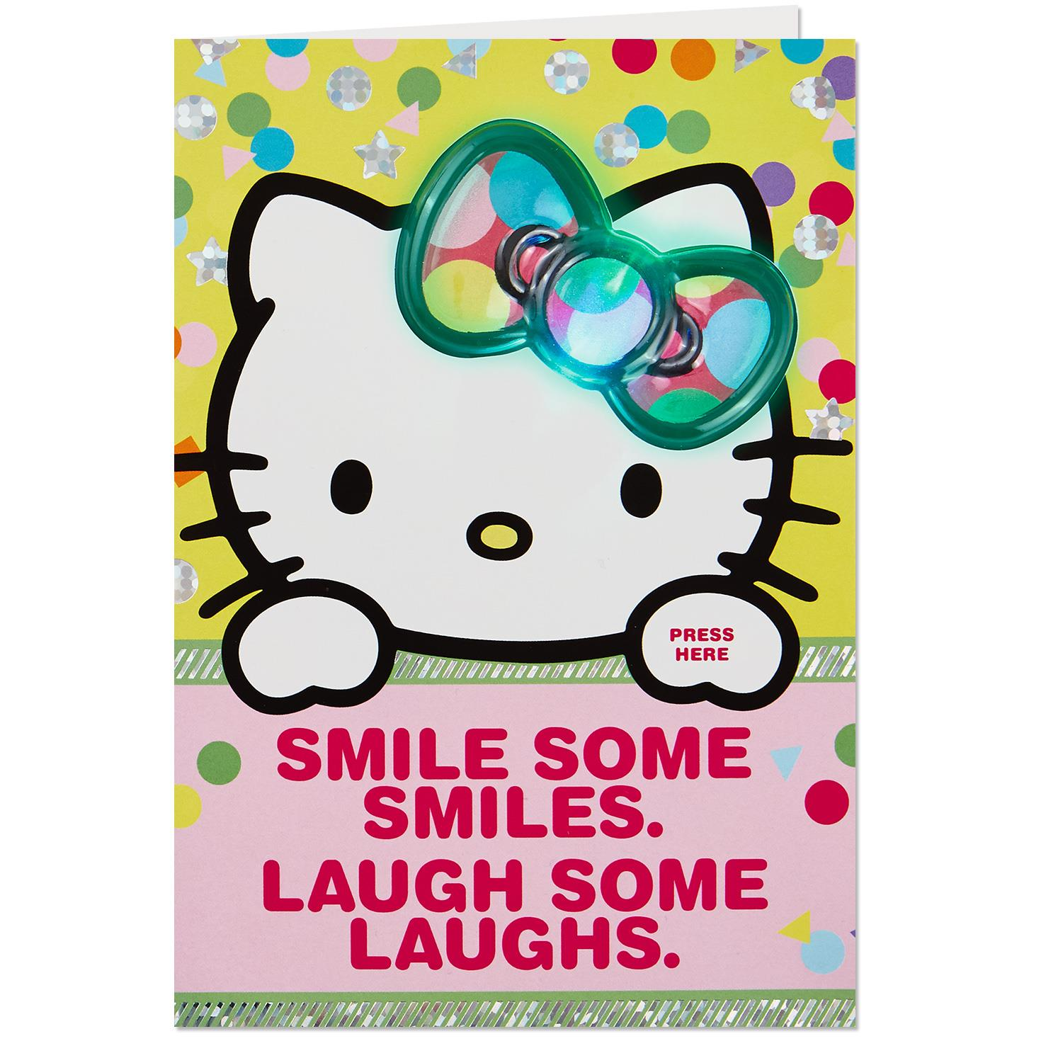 Hello Kitty Big Wishes Musical Birthday Card With Light Greeting