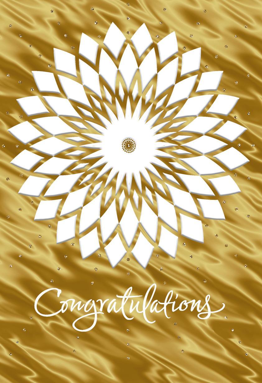 Embossed Mandala Congratulations Card Greeting Cards