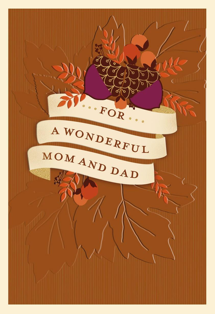 Mom And Dad From Us Thanksgiving Card Greeting Cards Hallmark