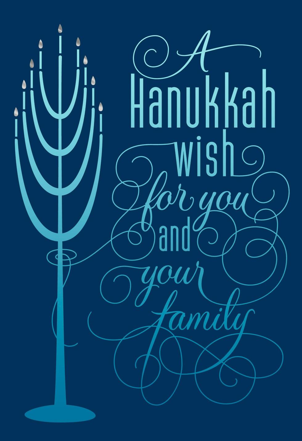 menorah lights hanukkah card - greeting cards