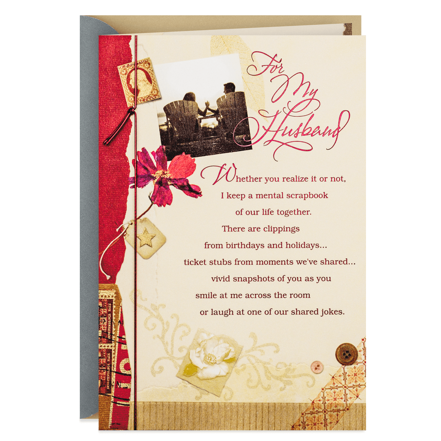 Scrapbook Of Memories Anniversary Card For Husband