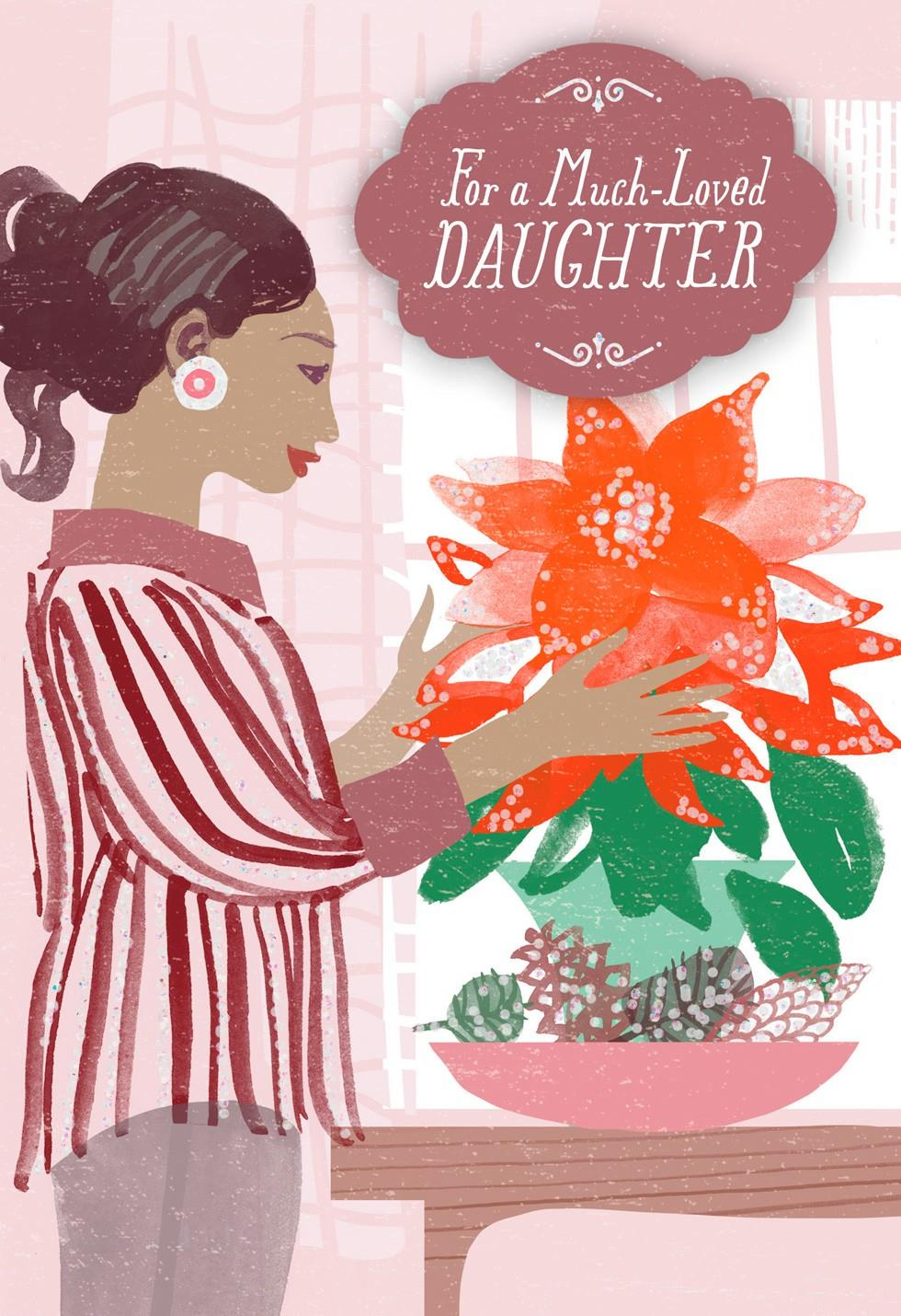 wonderful daughter christmas card - greeting cards