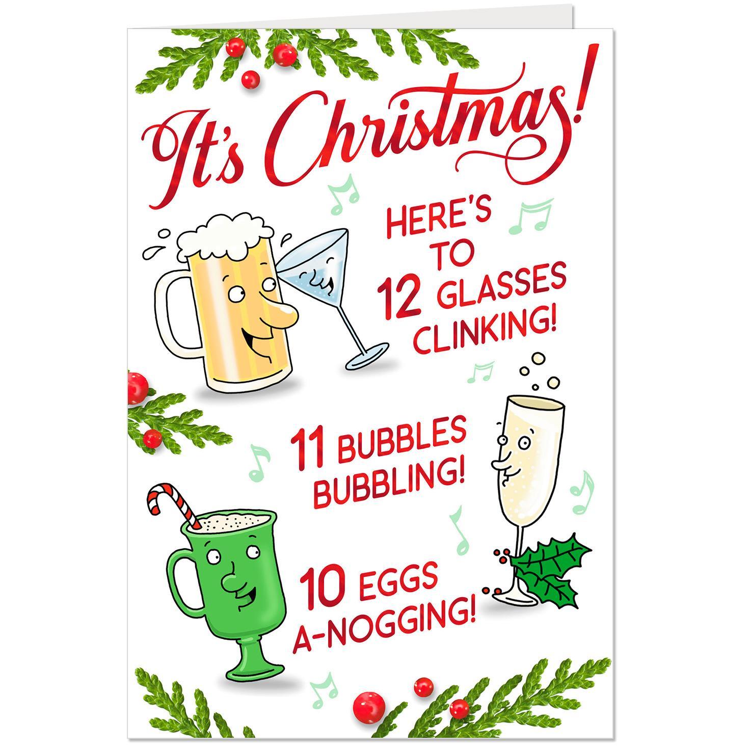 Twelve Days Of Drinks Funny Christmas Card Greeting Cards Hallmark