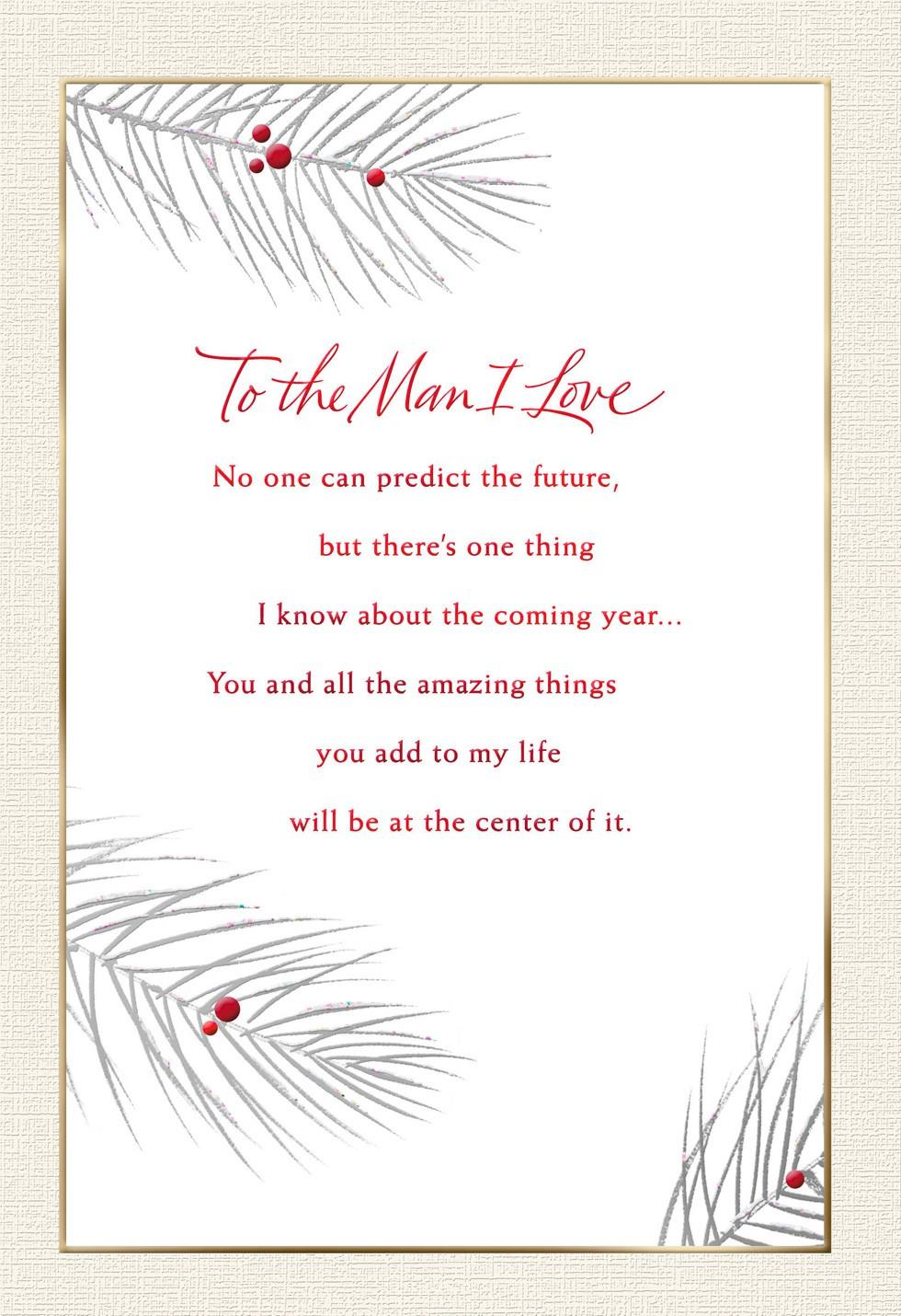 To the man i love christmas card greeting cards hallmark to the man i love christmas card kristyandbryce Choice Image