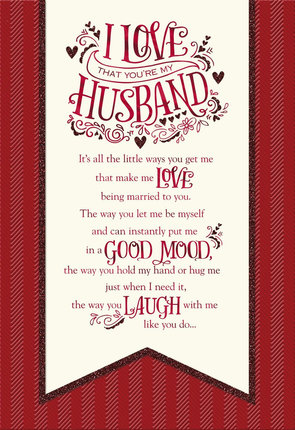The Reasons I Love You Banner Valentines Day Card for Husband – Valentines Day Card for Husband