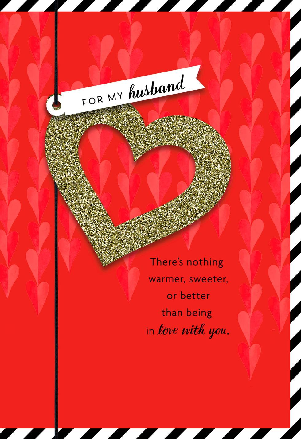 Partners In Love Valentines Day Card For Husband Greeting Cards