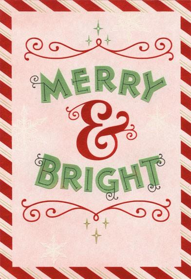 Merry And Bright Christmas Card Greeting Cards Hallmark